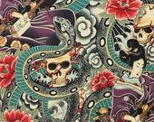 Fat Quarter - Zen Charmer on Tea Multi Colored by Alexander Henry Fabrics 6955AR