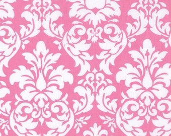 Fat Quarter - Dandy Damask Candy Pink Fabric By Michael Miller CX3095-CAND-D
