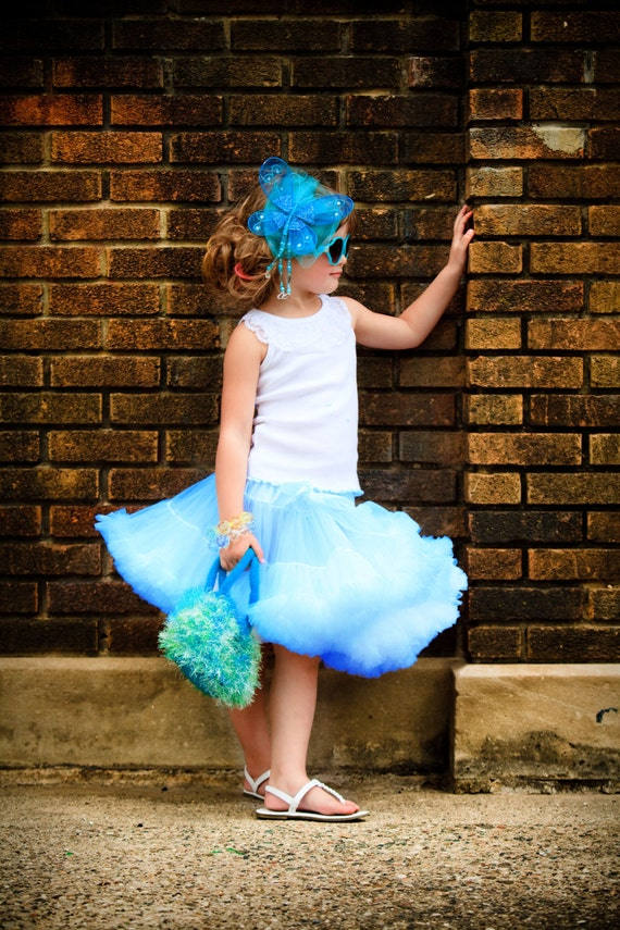 Sweetheart Pettiskirt - Baby Blue Exclusive Color By Dreamspun
