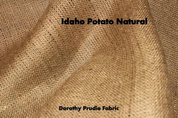Clearance 1.5 Yards 50% off as marked BURLAP NATURAL Idaho Potato colored Shalimar Burlap Fabric