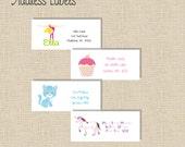 Girls Printable Matching Address Labels Any Invitation Design