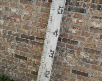 Growth Chart, Ruler Style, Distressed White
