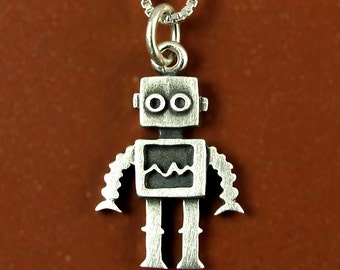 Tiny robot necklace / pendant