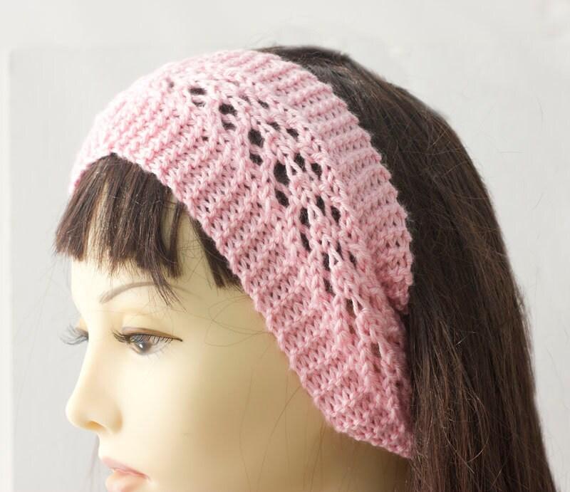 Knitting Pattern for Lace Headband, Knit Ear Warmer PDF Pattern, Head Wrap Di...