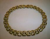 Vintage 1970s Goldtone Chain Link Choker Necklace