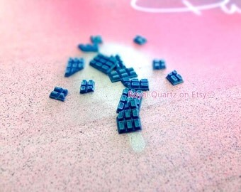 Teal/Medium Blue Chocolate Bars . kawaii, cute, girly, and a great gift