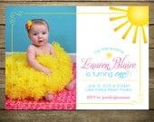 You Are My Sunshine Invitation - Printable File - DIY