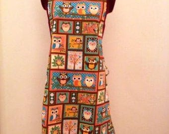Owls and Trees Adult Apron