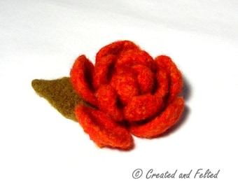 Felt Rose knitting  pattern