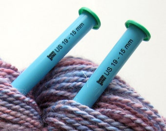 """US 19 Straight Knitting Needles - Susan Bates 10"""" lightweight and smooth plastic (15mm)"""