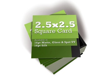 """Set of 1000 2.5""""  x  2.5"""" Square Business Cards - Free Shipping"""
