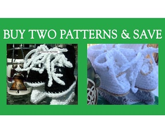 Instant Download - Buy Hockey Skates - Figure Skates Crochet Patterns together and Save