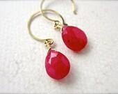 Sookie Earrings - ruby earrings, ruby gemstone earrings, july birthstone, scarlet ruby, true blood, handmade jewelry, gifts under 50, DE21