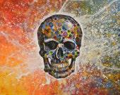 Skull art print ... Skull -- Signed 8 x 10 Glossy Print, from my original painting