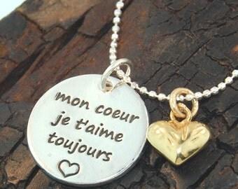 LOVE AMOUR Mon coeur je t'aime toujours Pendant