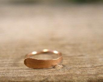 Pink Gold Flat Nose Ring - Super Thin Nose Ring, Thin Nose Ring, Pink Gold Nose Ring, Rose Gold Nose Ring, Flat Nose Ring, Discreet Nose Rin