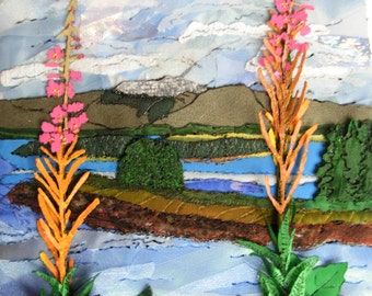 Unique  Fabric Landscape Collages Made to Order