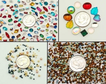 700 Swarovski Rhinestones and Chatons, Bezel, Pearls, Focals, Picks and more - Complete Jewelry Crystal Clay kit - Epoxy Clay - Jewelry clay