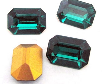 Emerald Cut Octagon Rhinestones 16X11mm