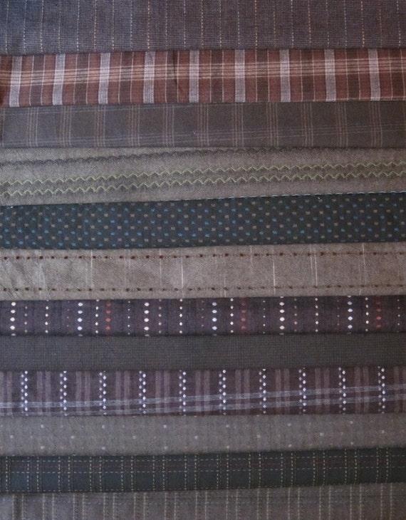 Japanese Taupe fabrics - 56 1/2 yards of various fabrics RESERVED for Natalia