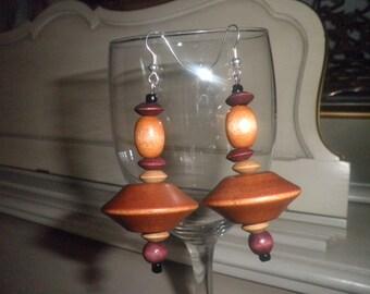 Vintage  Wood Earrings