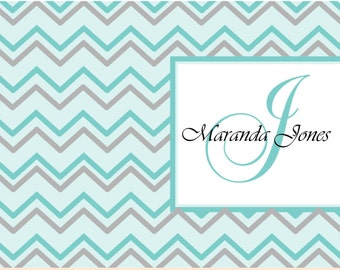 Custom personalized note cards chevron elegant personalized note cardswedding note cards bridesmaid, chevron notecards