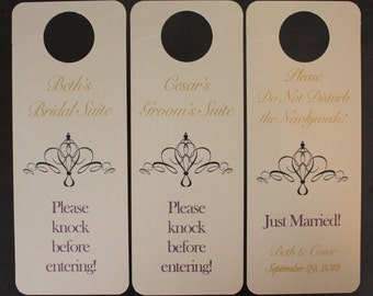 Set of 3 Suite Door Hangers - Custom Design