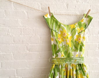 daffodils ~ A Tea Dress ~ Made to order