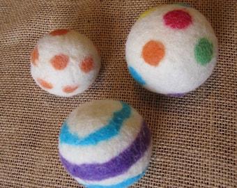 Wool Dryer Balls - Set of Three