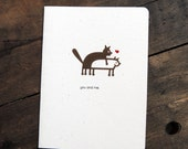 Love sex cats dogs card, you and me