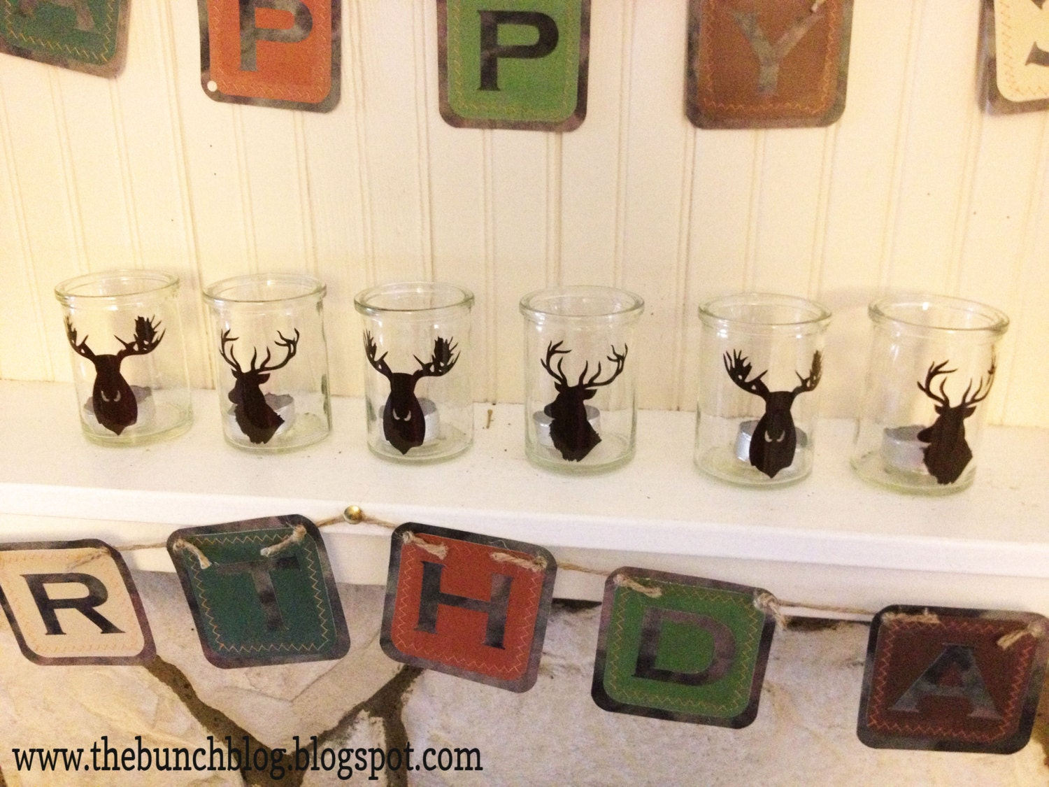 Hunting birthday party decorations party ideas deer hunting party - Items Similar To 30th Birthday Hunting Themed Birthday