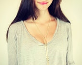 geometric gold body chain necklace