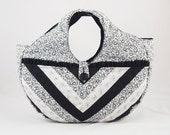 Handmade Black and White Purse Charlene 05