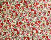 Liberty of London classic claire aude Tana Lawn fabric 100% Cotton red Sold by the 1/2  yard