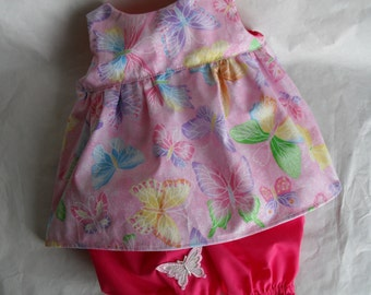 Doll Clothes ButterFly Dress fits Build a Bear Hello Kitty Dress Bloomers HandMade