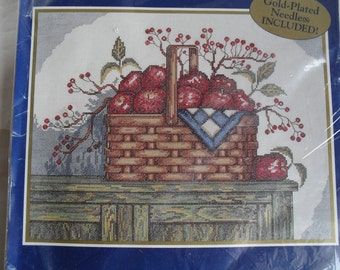 Counted Cross Stitch Embroidery Apples & Berries Stitchery Kit New