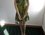 1970s Tropical Print Mini Dress - SALE PRICE
