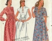 Vintage Butterick 5930 A-LINE DRESS with Mandarin Band Collar