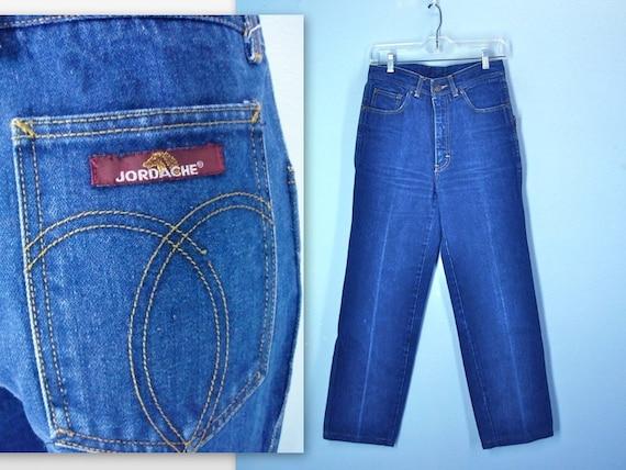 Vintage 70s Jeans / JORDACHE Mens Jeans / 1970s Denim / Unisex