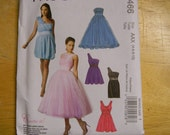 Uncut McCall's Pattern 6466 Size 4-10 Gorgeous Party, Prom, Evening, Bridesmaid Dresses