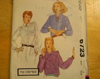 Vintage Uncut McCall's Pattern 6723 Size 8 Blouse