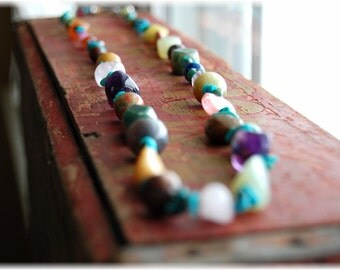 Back to the Earth...natural stone long necklace