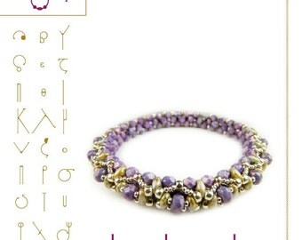 bead tutorial Bracelet Bangle tutorial / pattern Leo with superduo beads ..PDF instruction for personal use only
