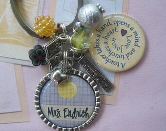 Personalized Teachers's keychains or moms, grandmas, nurses