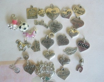 Charm add-ons to your necklaces, or keychains