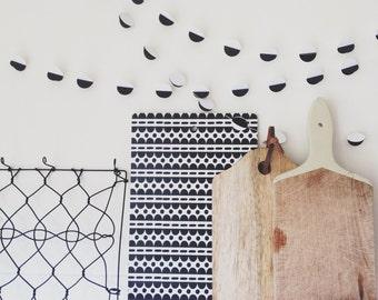 Scandi - Monochrome Garland - Black White Garland - Paper Decoration - Photo Prop - Paper Bunting - Party Decoration - Modern Decor