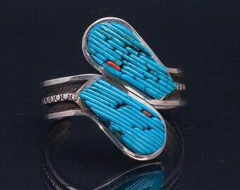 Turquoise Cornrow Bracelet - Navajo Pete Sierra