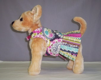 HARNESS PET CLOTHES Beautiful Floral Printed Dress