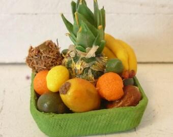 Tropical Fruit Platter Dollhouse Mini