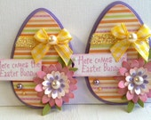 Sweet Easter Egg Embellishments - Here Comes the Easter Bunny - Flowers